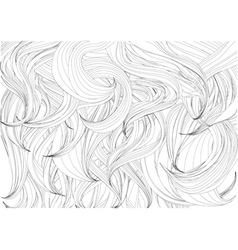 hair background vector image