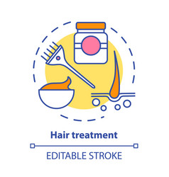 Hair treatment concept icon care vector