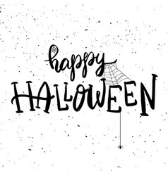 Happy halloween hand drawn lettering phrase vector