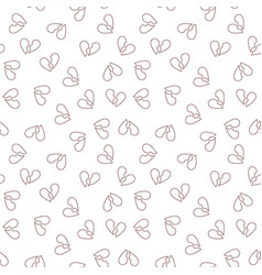heartbreak outline concept seamless pattern vector image