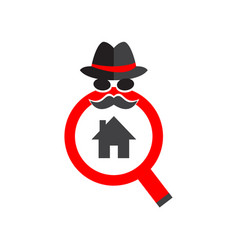 Home inspection services minimal logo vector