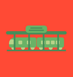 Icon in flat design train station vector