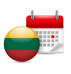 Icon of national day in lithuania vector