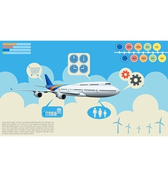Infographics of the airplane vector image