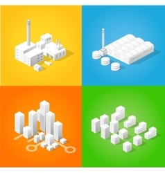 Isometric city of industry vector image