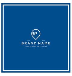 Letter rp pin logo design vector
