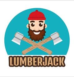 Lumberjack or Woodcutter logo vector image