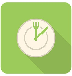 Lunch time icon vector