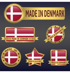 made in Denmark vector image