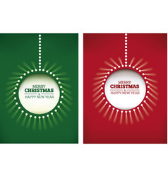 merry christmas background shining christmas ball vector image