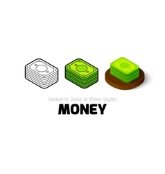Money icon in different style vector image