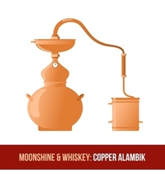 Moonshine and whiskey Copper alambik vector image
