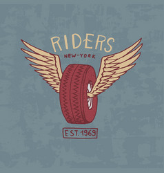 motorcycles and biker club template vintage vector image