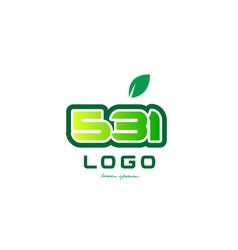 Number 531 numeral digit logo icon design vector