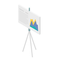 Office banner chart icon isometric style vector