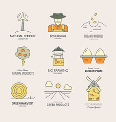 organic farming logo vector image