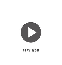 play icon simple flat style vector image