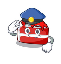 Police red velvet character cartoon vector