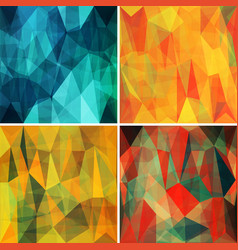 Polygonal backgrounds set with abstract vector