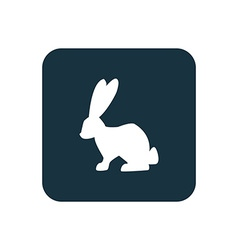 Rabbit icon Rounded squares button vector