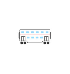 Railway carriage solid icon navigation vector
