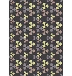 Seamless geometric pattern flowers beautiful vector image vector image