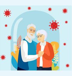Senior age family romantic pastime pensioners vector