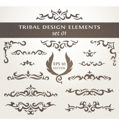 set design elements in tribal style collection vector image