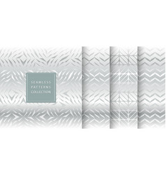 set silver seamless pattern texture vector image