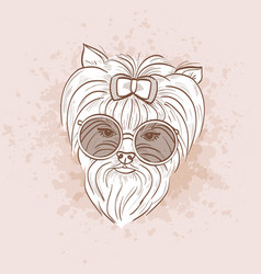 sketch of elegant dog vector image