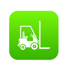 stacker loader icon digital green vector image