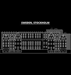 Stockholm silhouette skyline sweden - stockholm vector