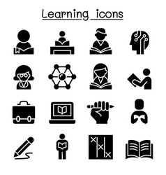 study learning education icon set graphic design vector image