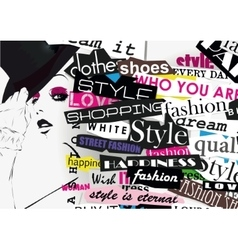 STYLE word cloud concept vector image