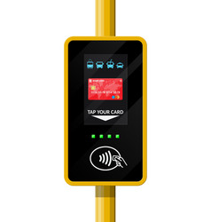terminal for passenger transport card vector image