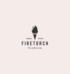 torch icon logo vector image