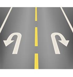Turn the car ahead vector image