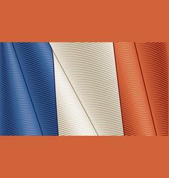 Vintage flag france close-up background vector