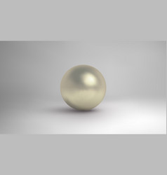 White pearl isolated on background vector