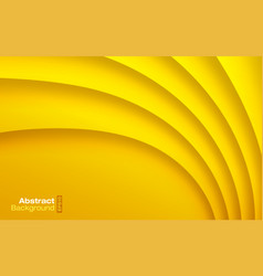 yellow paper curve shadow background card vector image