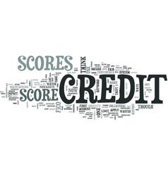 Z credit scores text word cloud concept vector