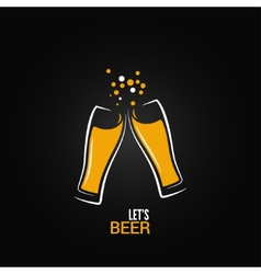 beer glass drink splash design background vector image vector image