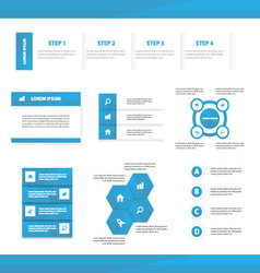 Blue Multipurpose Website templates infographic vector image