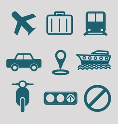 flat icon for transportation vector image
