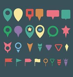 Flat map pins vector image