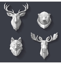 forest animals on the wall vector image