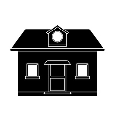 front view home window loft pictogram vector image