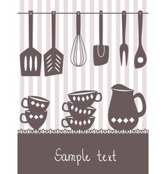 kitchen menu design vector image vector image