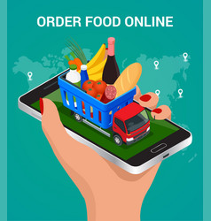 banners for web site online food order food vector image vector image