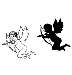 Cherub or cupid angel vector image